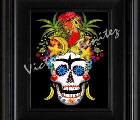 frida kahlo day of the dead la loteria el corazon card