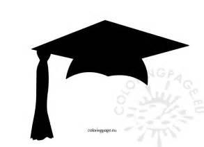 Graduation Cap Template by Black Graduation Cap Coloring Page