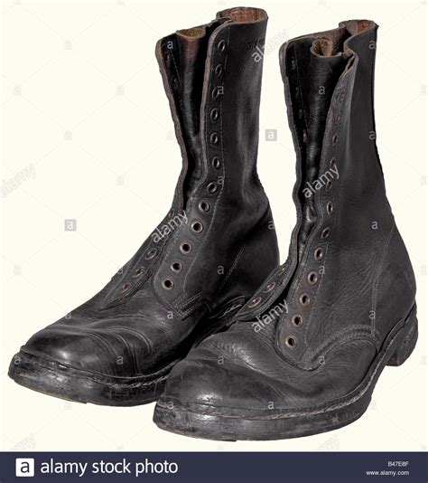 a 2nd model paratrooper boots black leather leather
