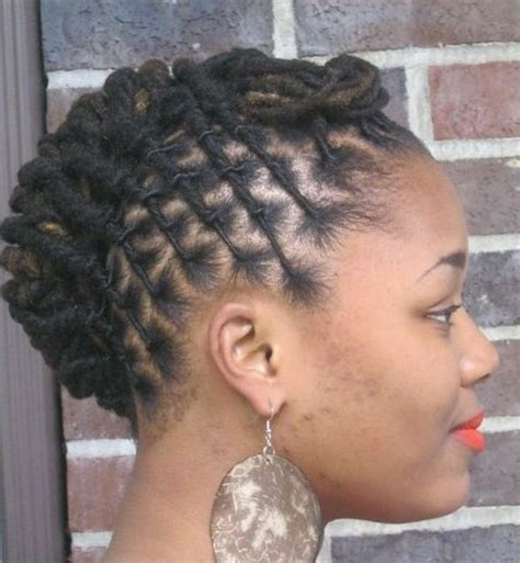 medium length hair for black tie twisted loc up do http blackwomennaturalhairstyles com
