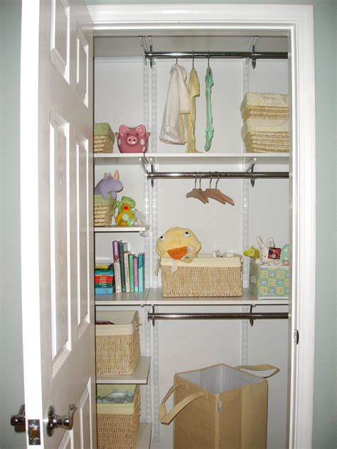 how to organize nursery closet the organized nursery hgtv