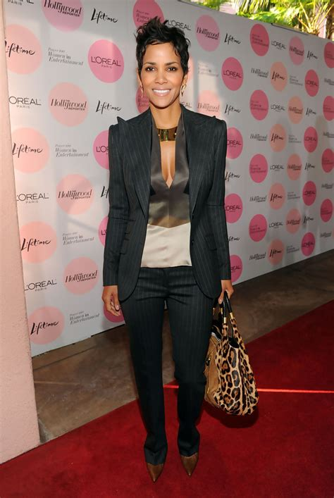 Name Halle Berrys Designer Purse by Halle Berry Printed Tote Halle Berry Looks Stylebistro