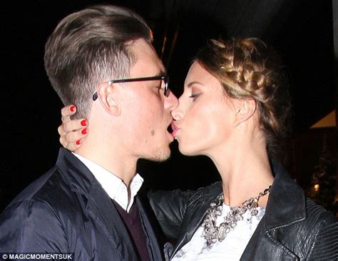 towie s ferne mccann and charlie sims share a kiss at