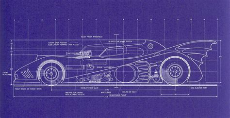 design blueprint 1989 batmobile blueprints
