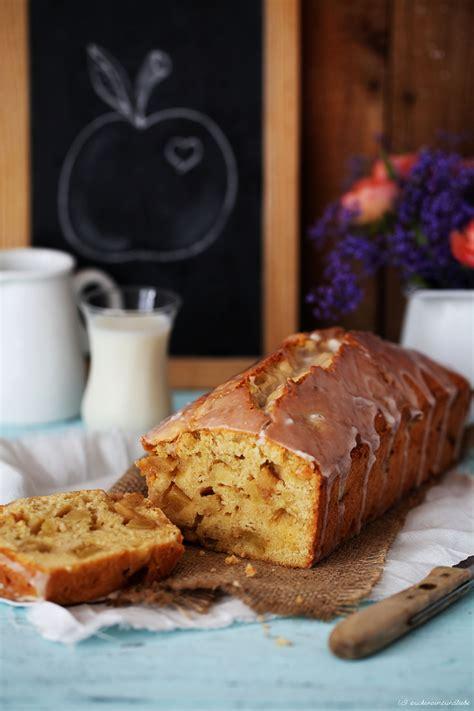 kuchen in der kastenform vanille apfelkuchen mit zimtguss aus der kastenform auf