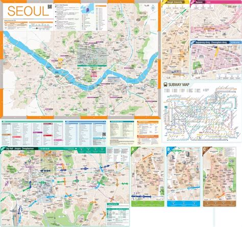 seoul map tourist attractions large detailed tourist map of seoul