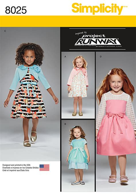 pattern runway review simplicity 8025 toddlers and child s project runway dresses