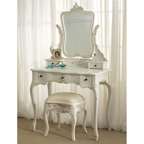 how to dress a table white wood dressing table mirror with drawers and stool in