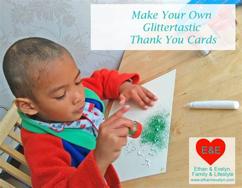 make your own thank you cards make your own glittertastic thank you cards