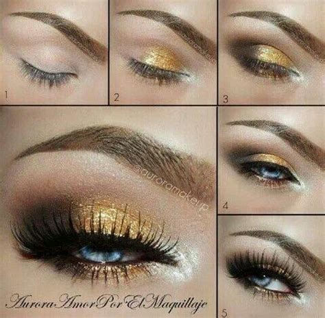 Eyeshadow Gold Tutorial gold smokey eye makeup tutorial