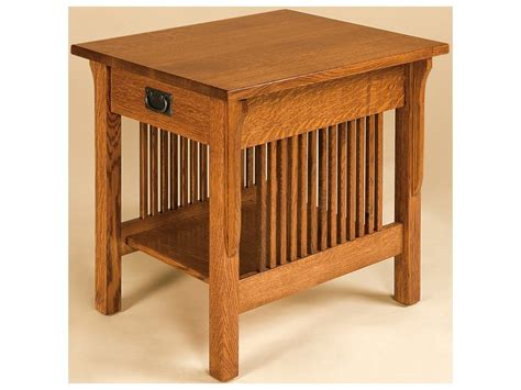laptop table with storage end tables amish furniture by brandenberry amish furniture