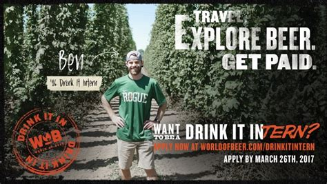 world of beer internship how to apply for 12 000 job an internship of travelling and tasting beer here are a