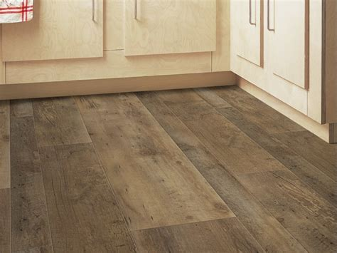 synthetic material floor tiles with wood effect senso rustic mix by gerflor
