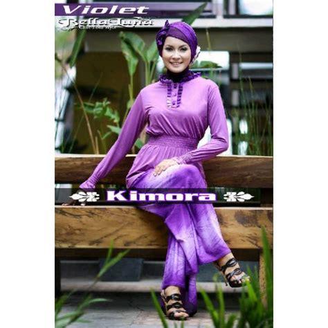 Baju Muslim Kimora Purple 210615 kimora ungu baju muslim gamis modern