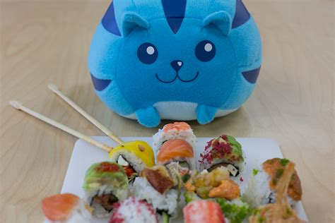 sushi cat makes for eatins plastic and plush
