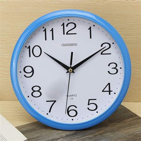 bedroom wall clock large vintage round modern home bedroom retro time kitchen