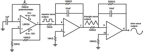 Lm324 Chip how to build a simple function generator circuit with an