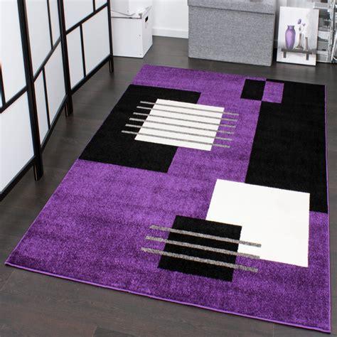 teppiche violett designerteppich karo lila ausverkauf