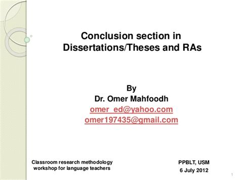 conclusion section conclusion in theses research articles dr mahfoodh