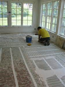s home during sunroom floor