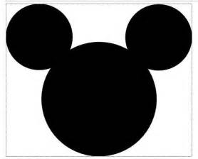 mickey mouse head template free clipart