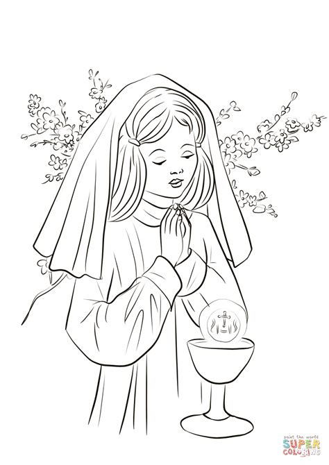 Holy Communion Printable Coloring Pages by Communion Coloring Page Free Printable