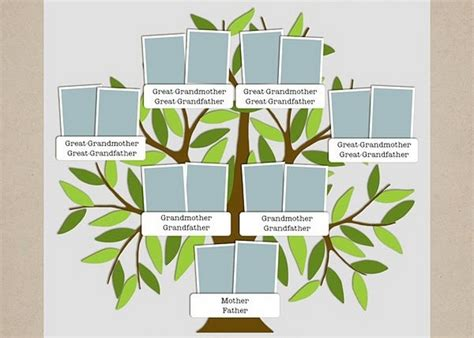 Family Tree Template Microsoft Powerpoint Pictures Reference Powerpoint Genealogy Template