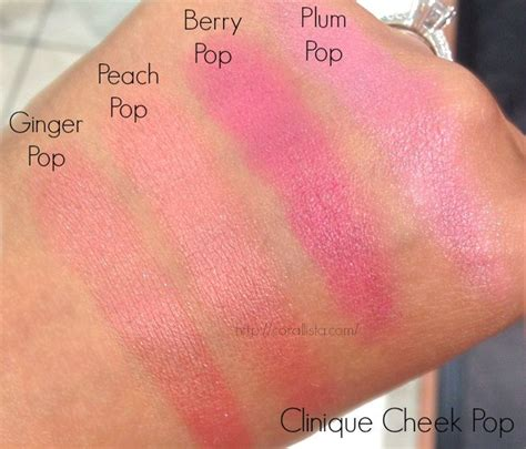 Clinique Cheek Pop clinique cheek pop blush swatches pop pop