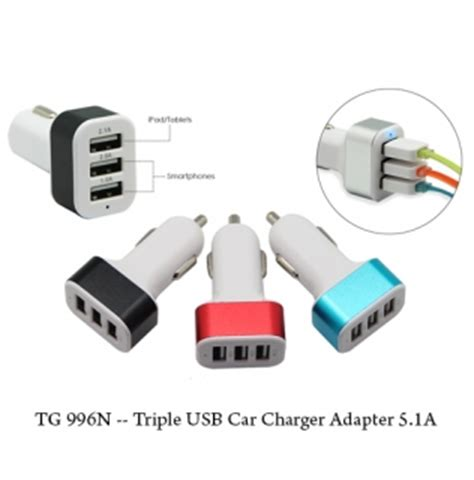 Ahha Car Charger Tripee 42 travel adapter twinlink services corporate gifts door gift premium gifts supplier in malaysia