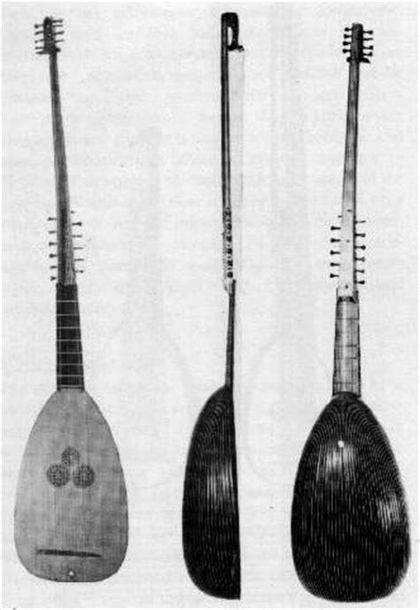 ecolaliste: lista degli strumenti musicali usati nel xvii