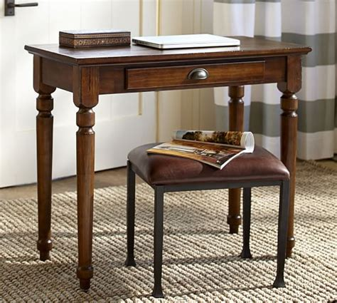 modern writing desks for small spaces printer s writing desk small pottery barn