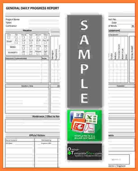 9 Progress Report Template For Construction Project Progress Report Project Diary Template Excel