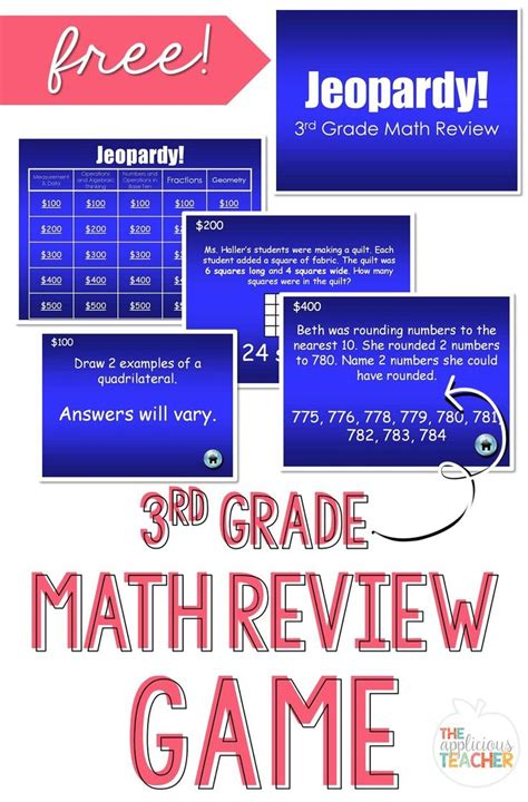 1000 Images About Math Teaching Resources On Pinterest Jeopardy Review Powerpoint