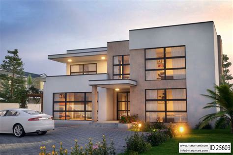 5 bedroom modern house modern 5 bedroom house design id 25603 floor plans by