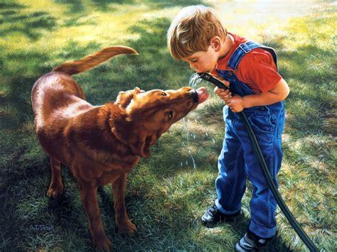 imagenes de niños jugando con un perro peque 241 os beb 233 s haciendo travesuras