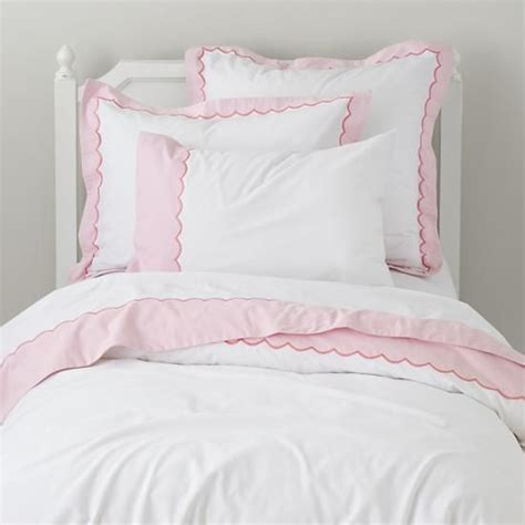 scalloped bedding the land of nod girls bedding pink scalloped bedding set in duvet covers sweet