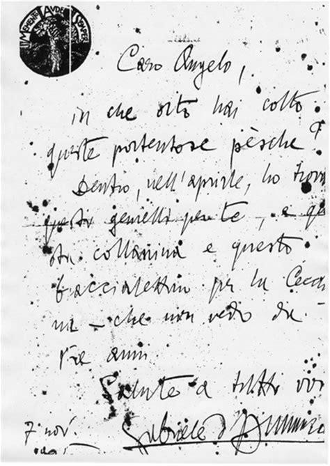 lettere d annunzio www carlofiaschetti it le opere di gabriele d annunzio