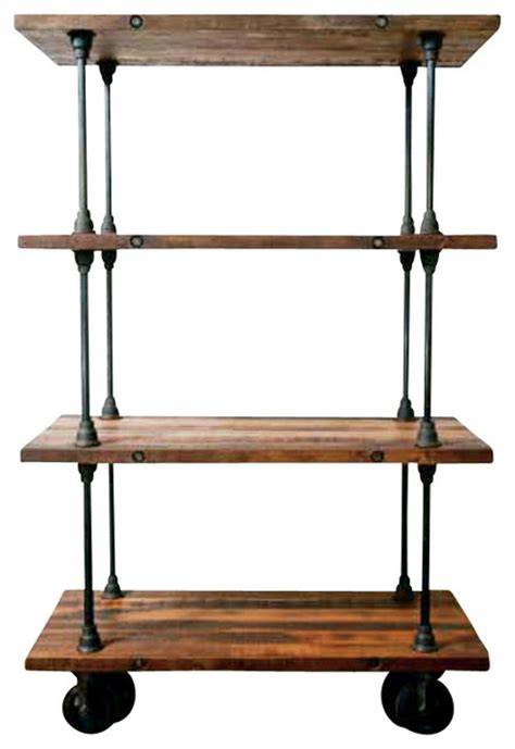 Small Wooden Shelf Unit by V16 Shelving Unit Reclaimed Wood Small Eclectic