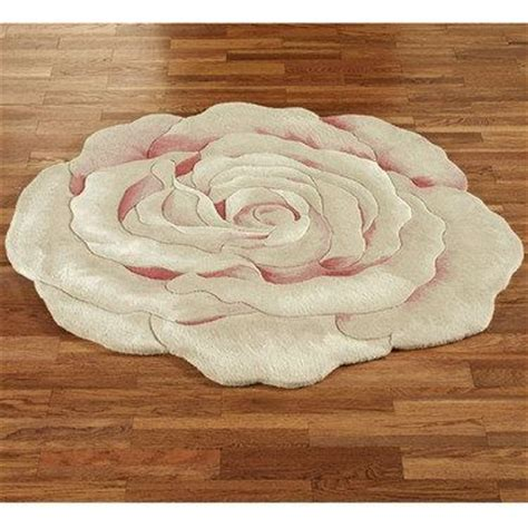 Grace Bloom Flower Shaped Round Rugs Costal Southwest Flower Shaped Area Rugs