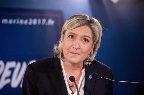 marine le pen far right leader marine le pen ahead in