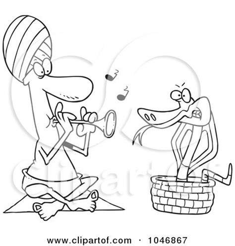 snake charmer coloring page royalty free rf snake charmer clipart illustrations