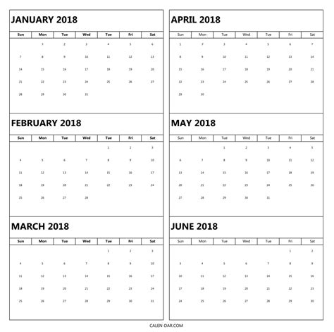 printable calendar 2018 yearly calendar download january 2018