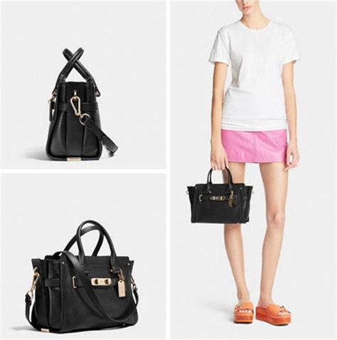Coach Swagger 27 Tas Asli Original Bag Branded Bag Authentic Bag coach swagger 27 pebble leather 34816 black satchel satchels on sale