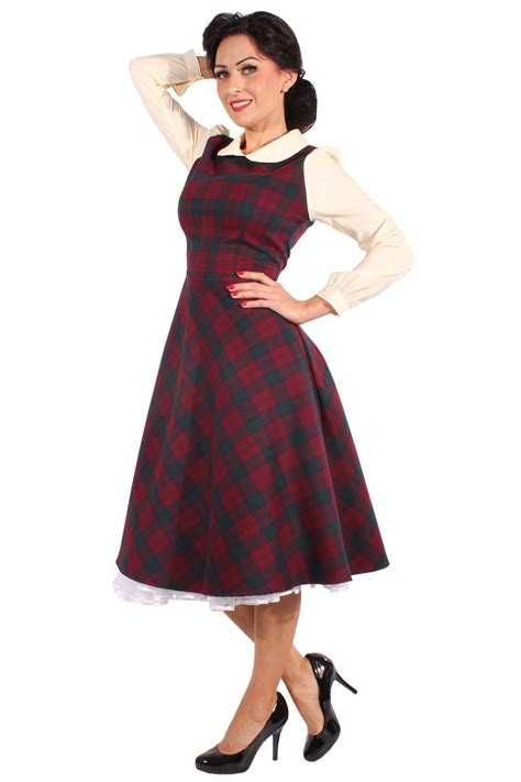 rockabilly swing kleid glencheck retro rockabilly karo petticoatkleid