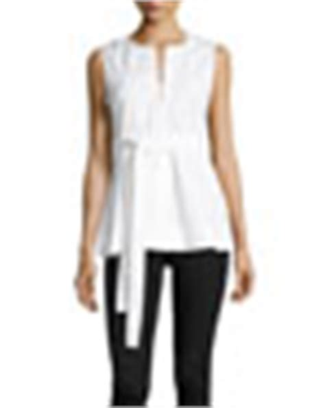 theorydesza cotton top with peplum theory desza stretch cotton belted peplum top neiman