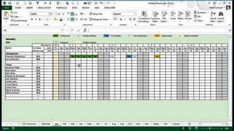 staff holiday planner excel template sampletemplatess