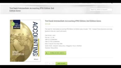 Intermediate Accounting Ifrs Edition 2nd Edition test bank for intermediate accounting ifrs edition 2nd