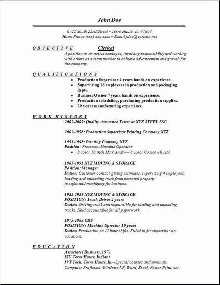 Clerical Resume Templates by Clerical Resume Exles Sles Free Edit With Word