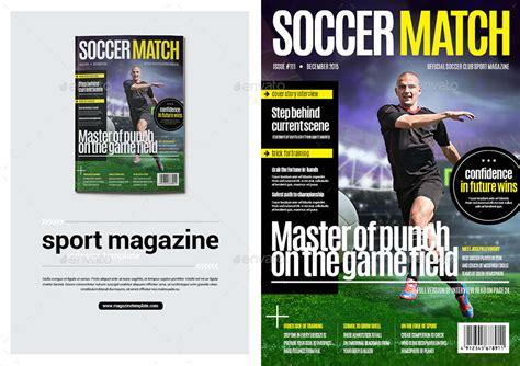 contoh desain grafis majalah majalah olahraga desain template soccer match premium download