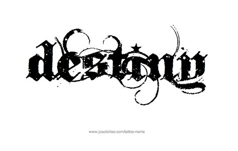 destiny tattoo designs the name destiny www imgkid the image kid has it